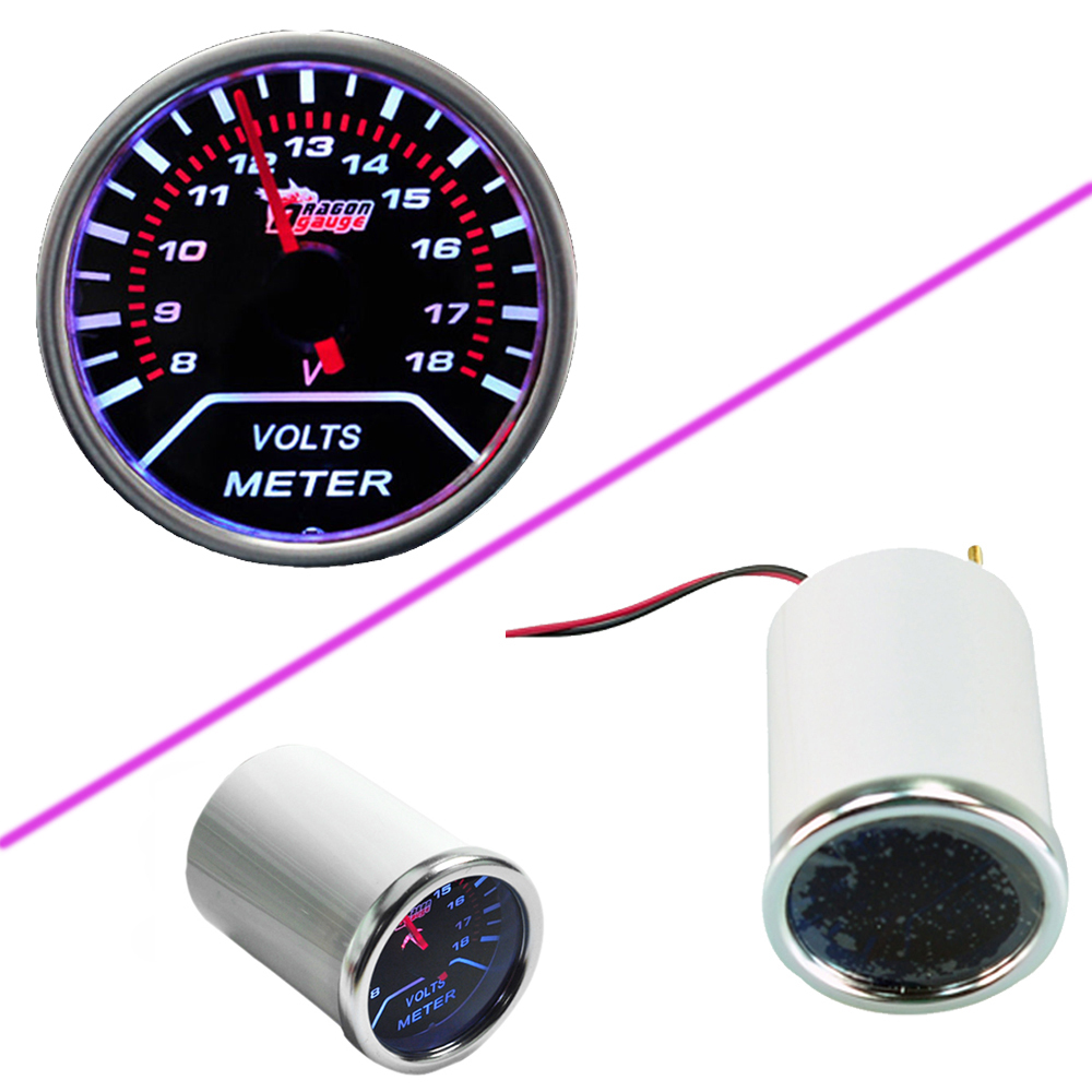 Car Motor Universal Smoke Len 2 52mm Indicator Volt
