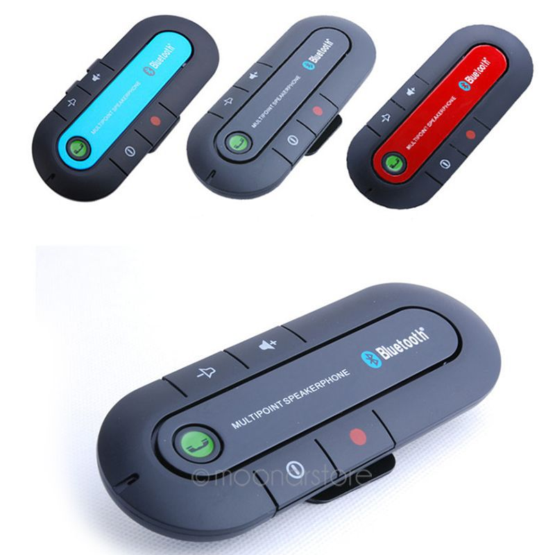 free shipping new wireless bluetooth handsfree speakerphone car kit with car charger bluetooth. Black Bedroom Furniture Sets. Home Design Ideas