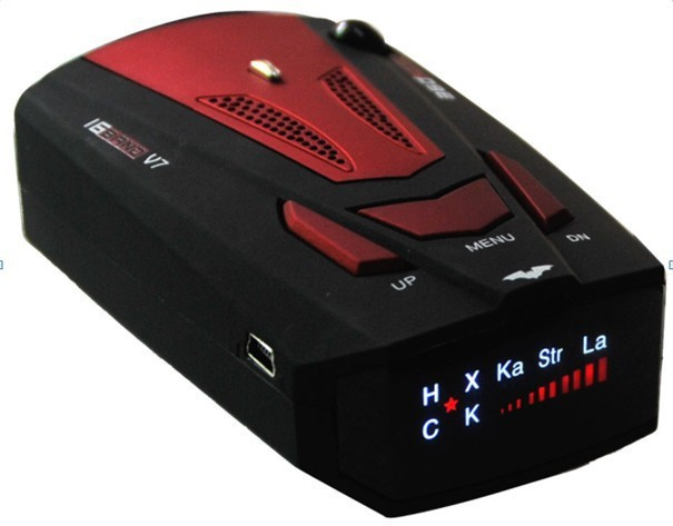 high quality v7 16 brand car radar detector russian english with1 5 lcd anti radar for auto. Black Bedroom Furniture Sets. Home Design Ideas